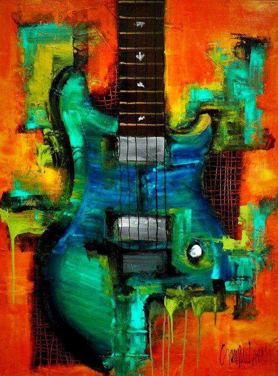 Sergio Lazo  Easy PaintingsAcrylic. Sergio Lazo   Easy Paintings   Pinterest   Paintings  Guitar art