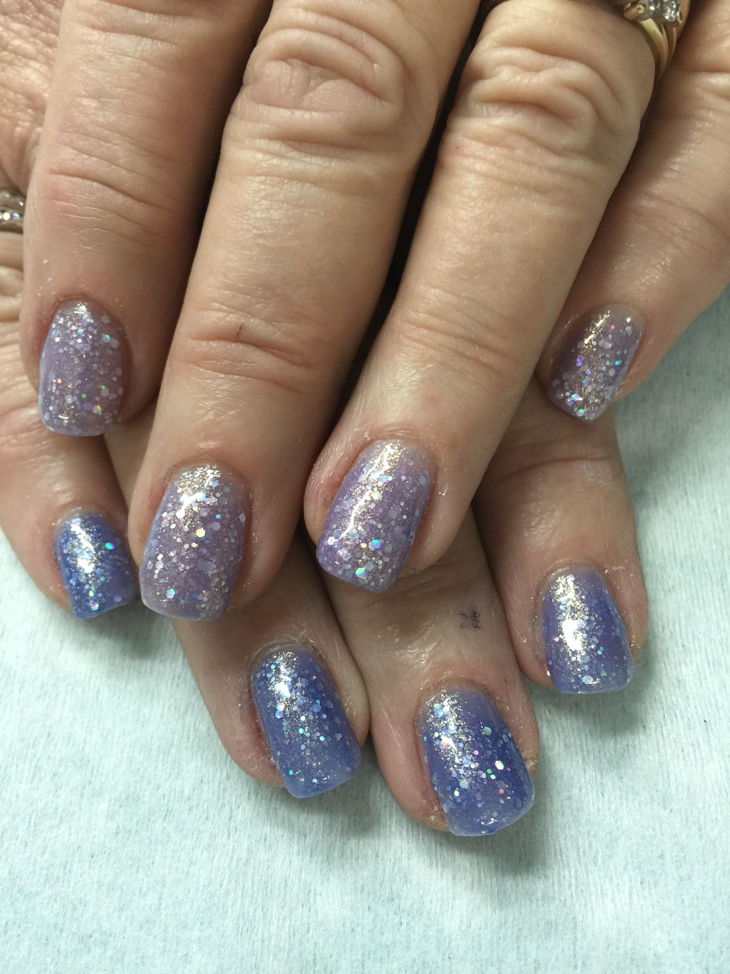 Light Blue to Lavender Color changing gel polish over non-toxic ...