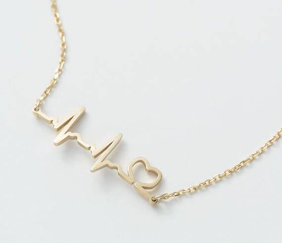 Heartbeat Ekg Bracelet Medical Student Gift Delicate