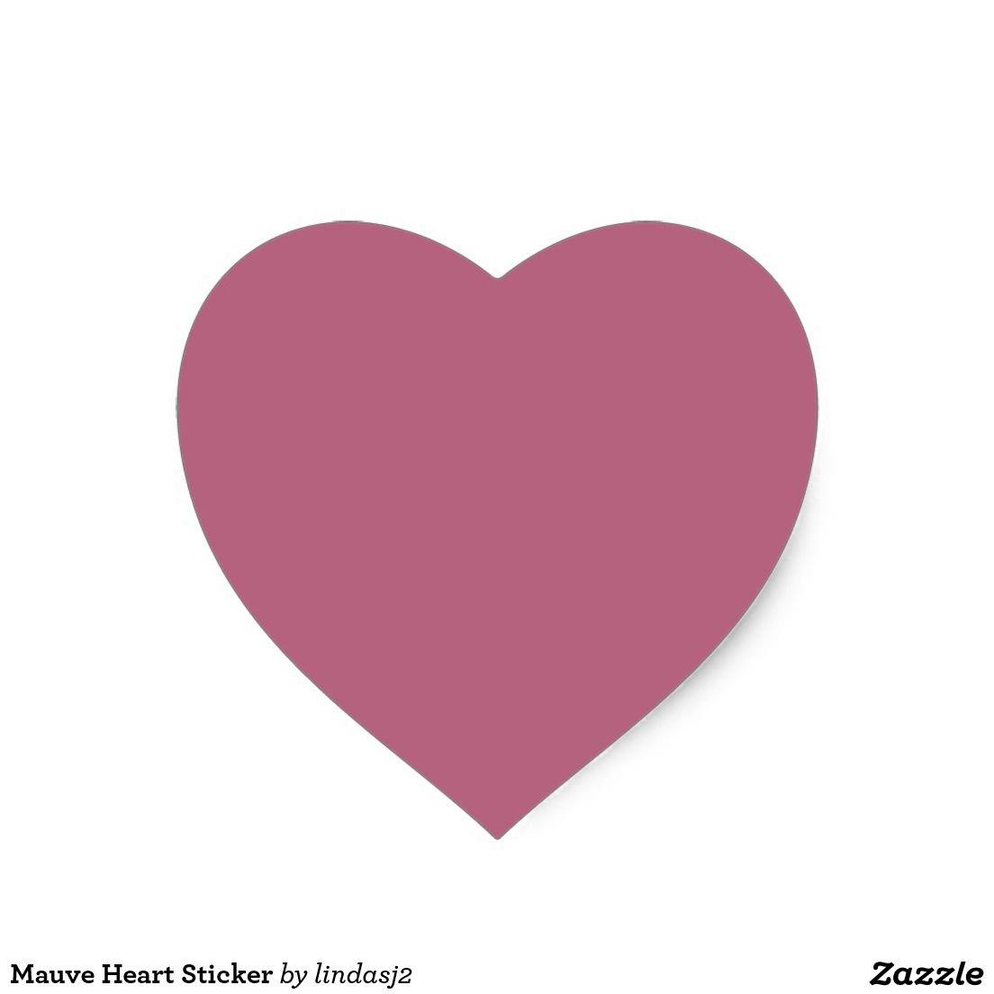 Mauve Heart Sticker