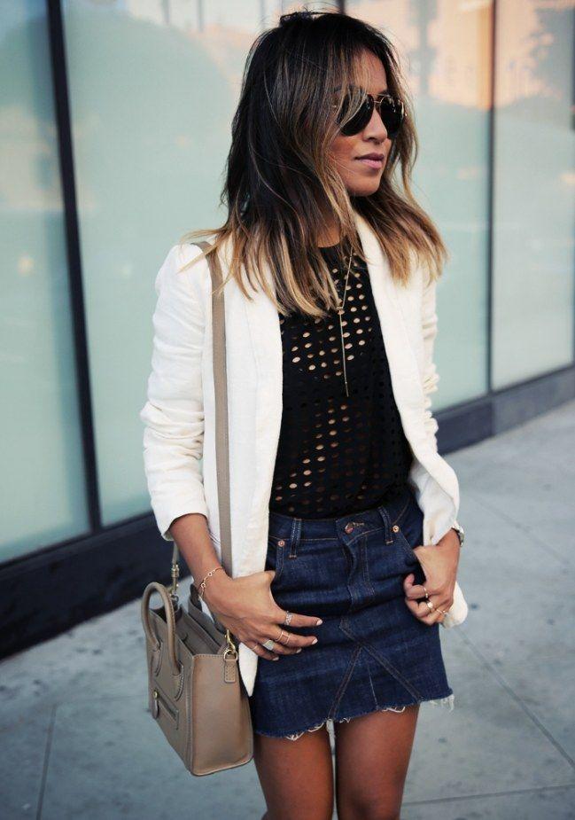 jeansrock kombinieren: diese styling-regeln beherrschen