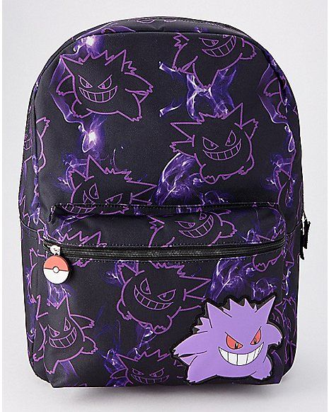 FUNNY POKEMON GO GENGAR COOL FUNNY SHOPPING CANVAS TOTE BAG IDEAL GIFT PRESENT