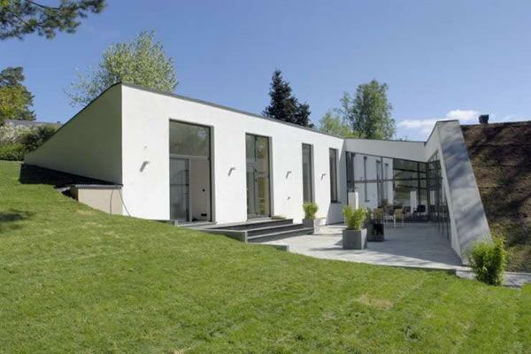 Bunker Style Houses Eco Friendly House In Stockholm Green