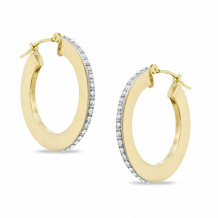 Zales Geometric Double Circle Hoop Earrings in 14K Gold HR1cBVIQ