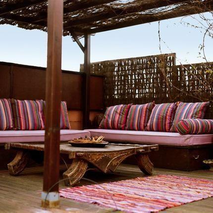 moroccan style patio outdoor-spaces | Idée déco terrasse, Idée déco extérieur, Deco terrasse