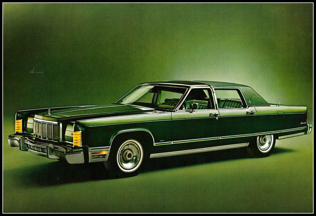 1976 Lincoln Town Car 4 Door Jade Green Vintage Lincoln Cars