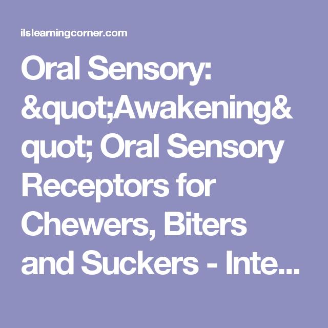 An oral awakening