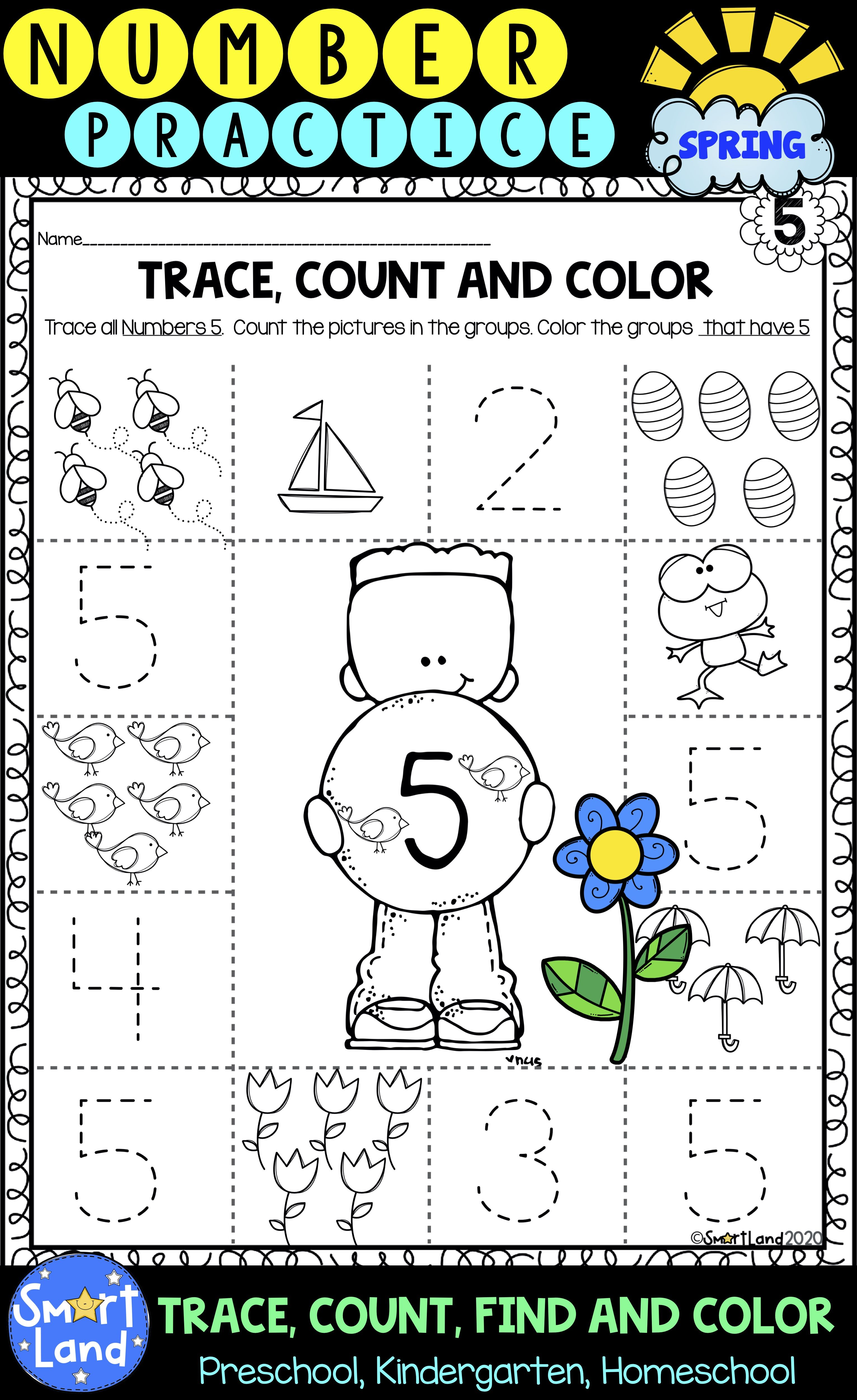 Numbers 1 10 Counting Tracing And Identifying Worksheets