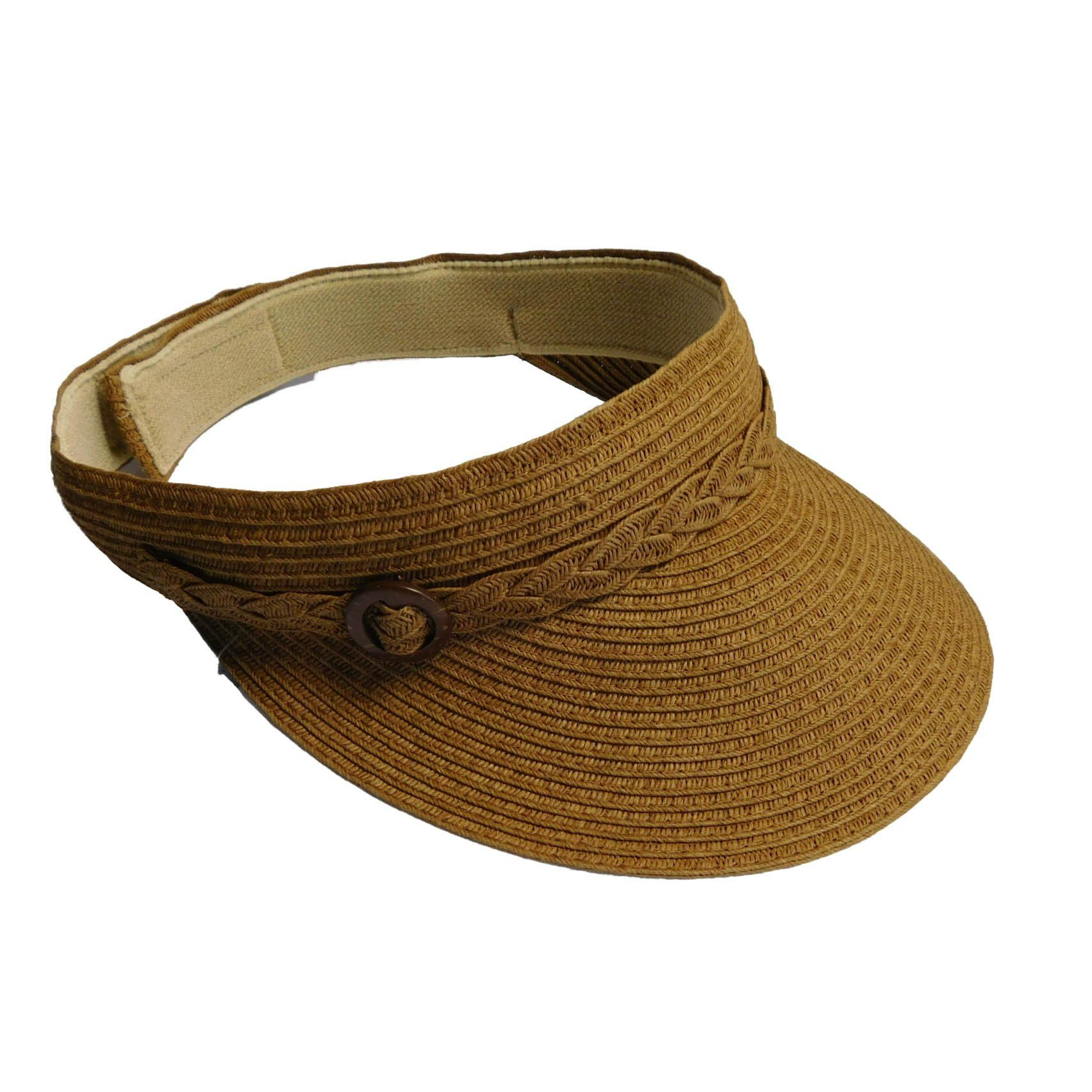SONOMA Goods for LifeTM Woven Straw Buckle Visor  hat  womens  143cddd1e4ca