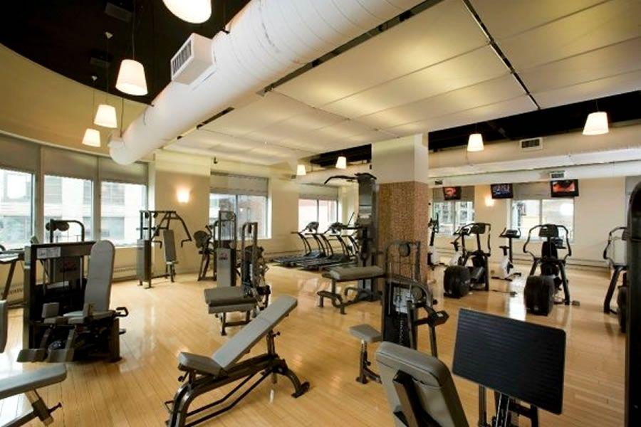 Gym lighting inspiration modern residential apartment for Gym interior design