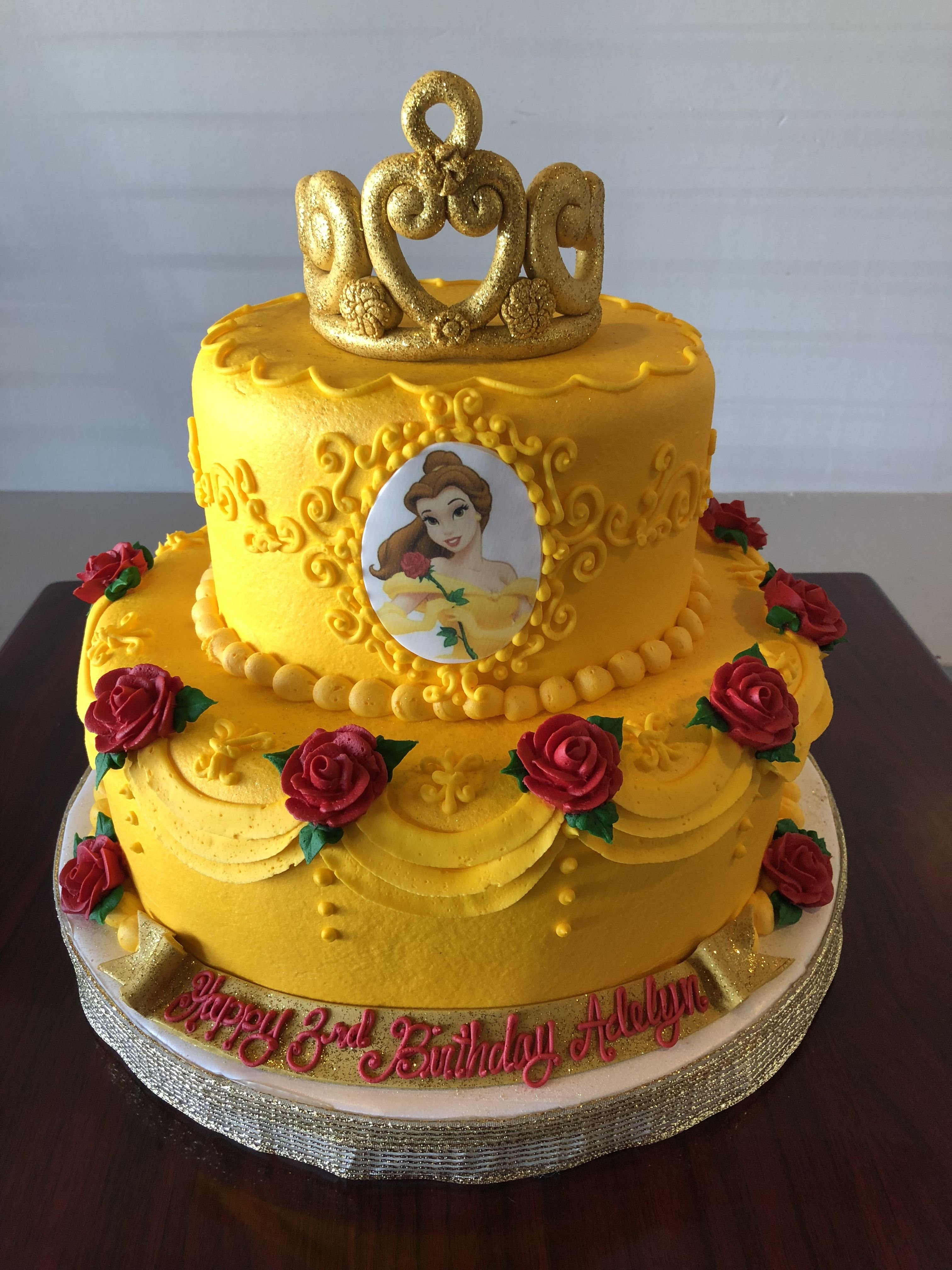 Swell Disney Belle Cake Adrienne Co With Images Belle Birthday Personalised Birthday Cards Paralily Jamesorg