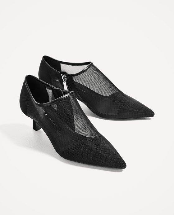 d0ee46164 Image 3 of HIGH HEEL SHOES WITH MESH from Zara | 2015 S/S shoes ...
