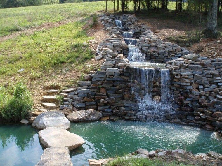 Cascadas y cataratas en el jard n 63 ideas refrescantes for Cascada artificial jardin