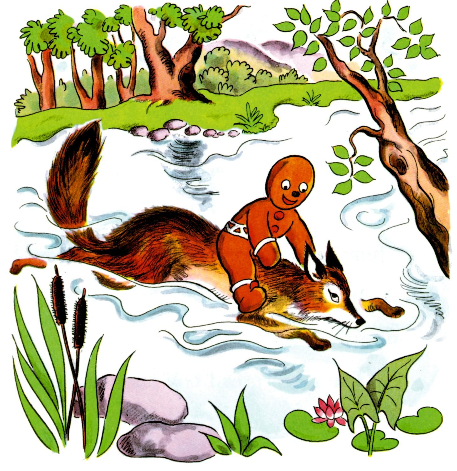 The Gingerbread Man and the fox (St. Nicholas, 1875
