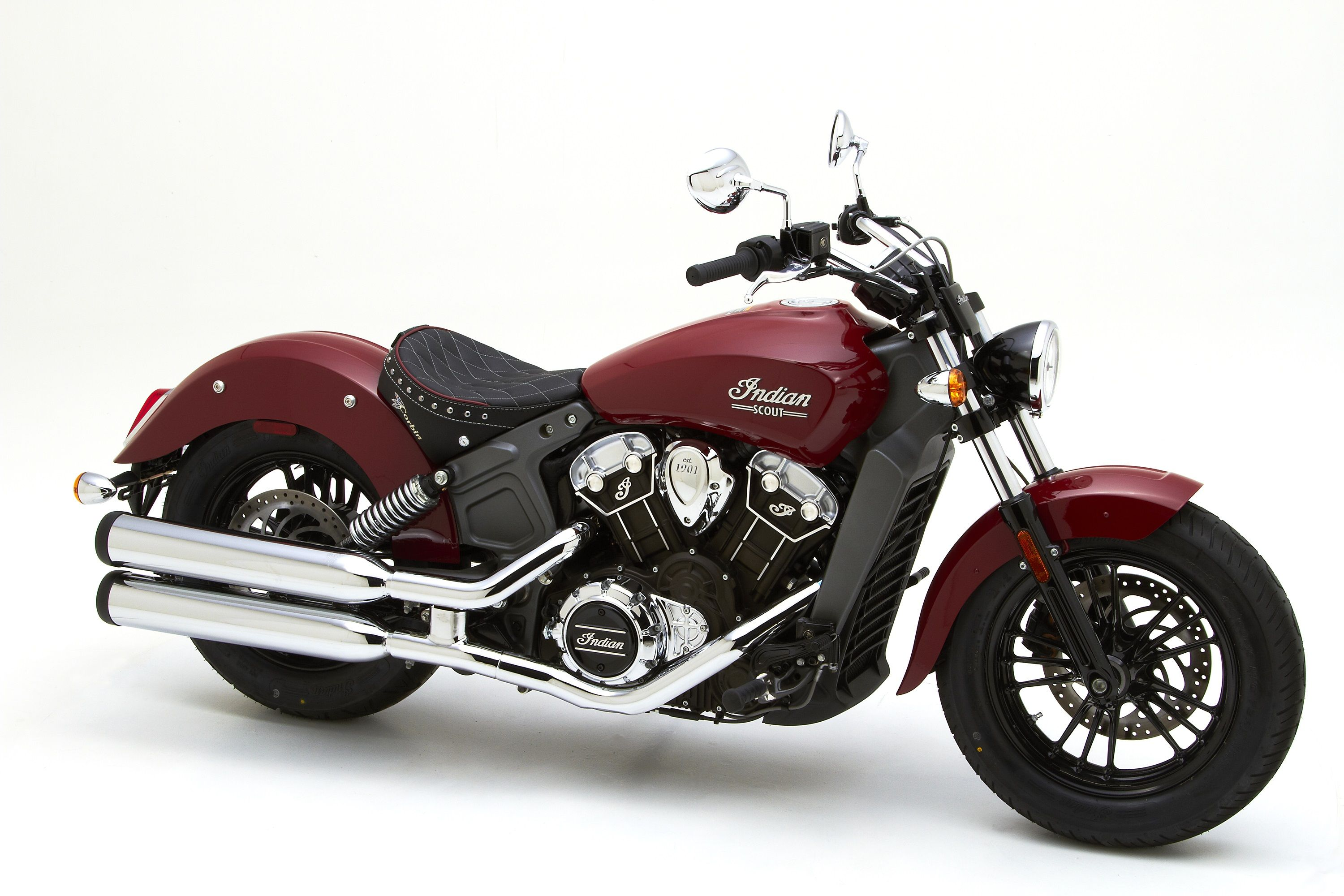red Indian Scout with black Corbin solo seat - | Dream
