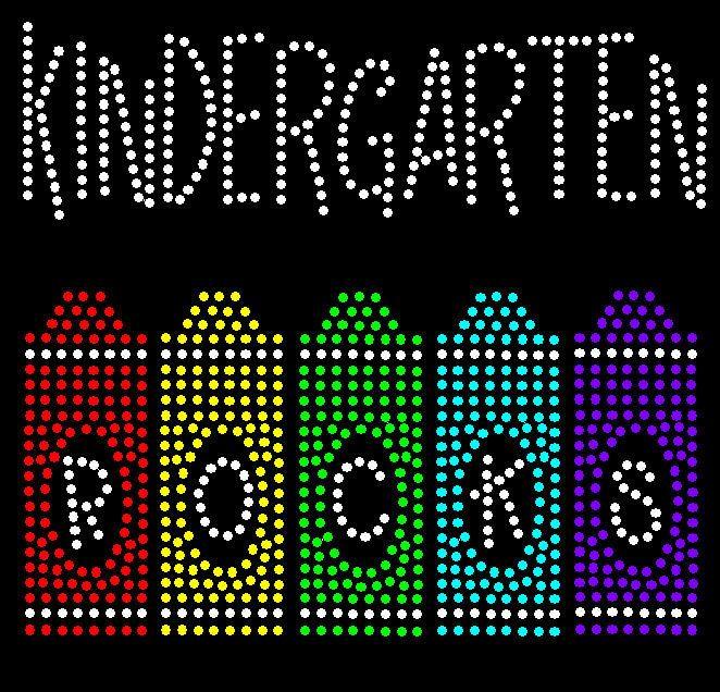 Kindergarten Rocks Rhinestone Transfer  by RegalRhinestones, $9.50