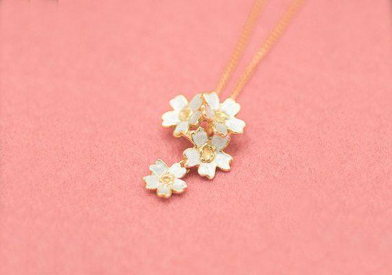Cherry blossom pendant  Four flowers  Sakura by ateliershinji