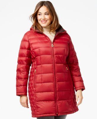 0f8ff07a2aa MICHAEL Michael Kors Plus Size Packable Puffer Coat