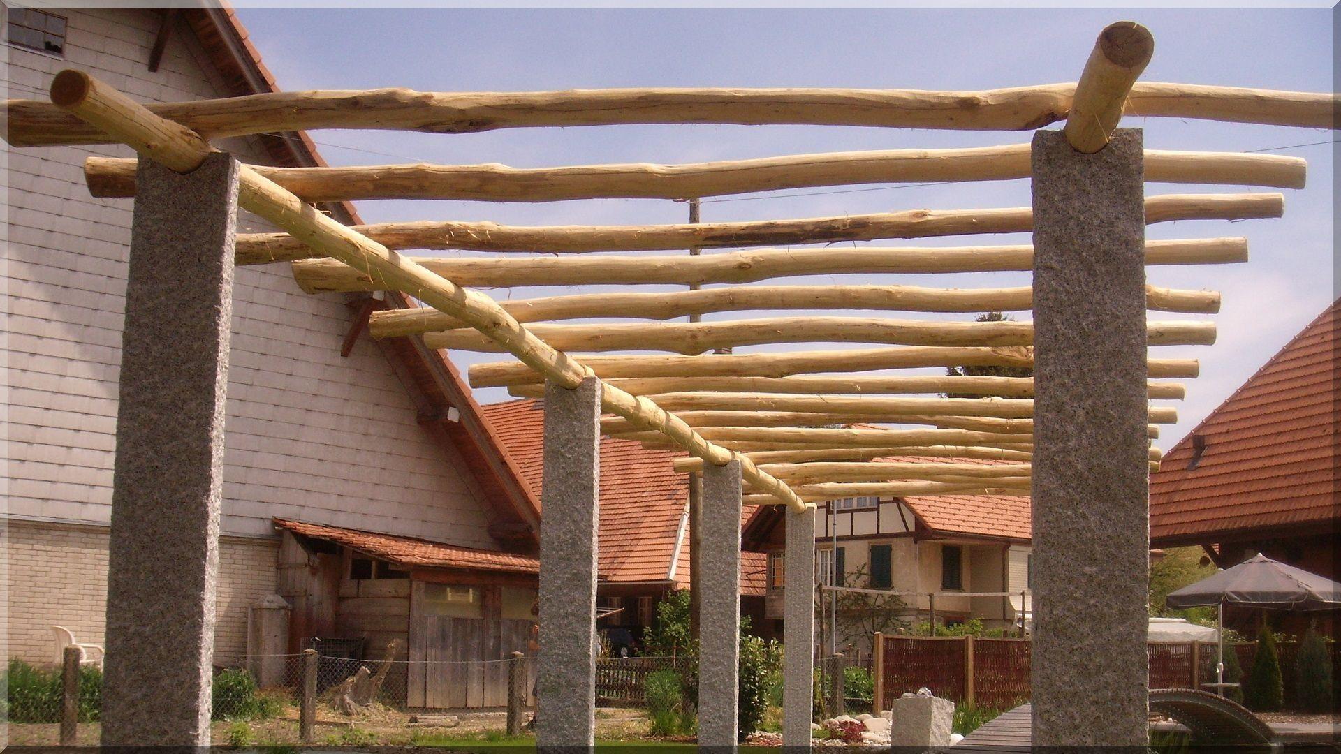 Pergola aus Robinienholz Gartengestaltung, Im freien