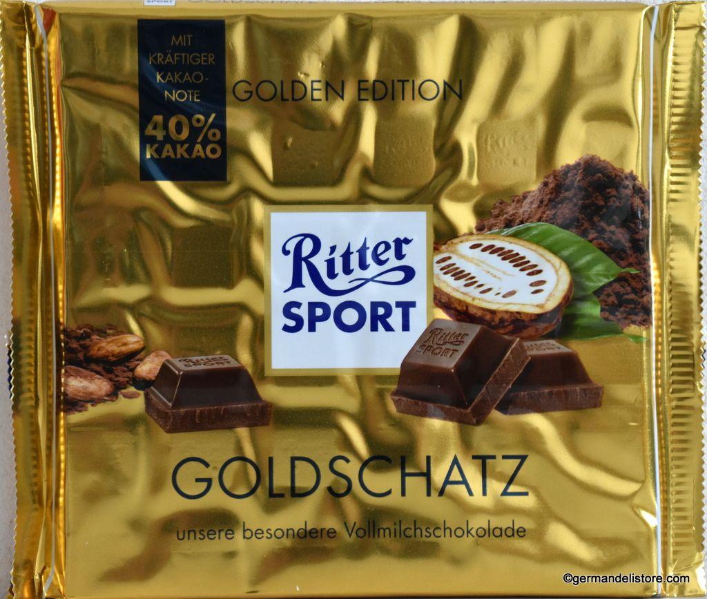 Ritter Sport Gold Treasure Goldschatz 250g Gold
