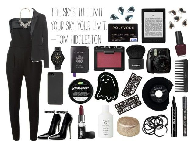 """""""Your sky. Your limit."""" by swiftie4ever01 ❤ liked on Polyvore featuring Yves Saint Laurent, Victoria Beckham, Butter London, Forever 21, Fresh, H&M, Eyeko, Topshop, HEX and CHESTERFIELD"""
