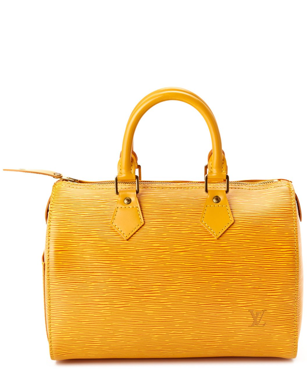 Spotted this Louis Vuitton Tassili Yellow Epi Leather Speedy 25 on Rue La La. Shop (quickly!).