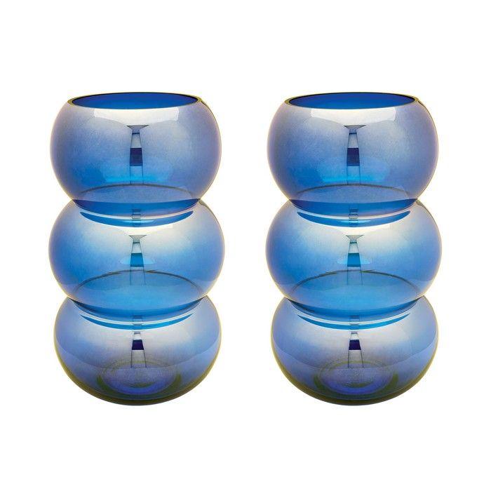 Cobalt Ring Votives - Set Of 2 | Lazy Susan
