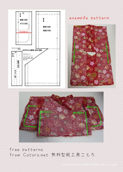 Free Japanese Sewing Pattern – Cotoro.net | Costura | Pinterest ...