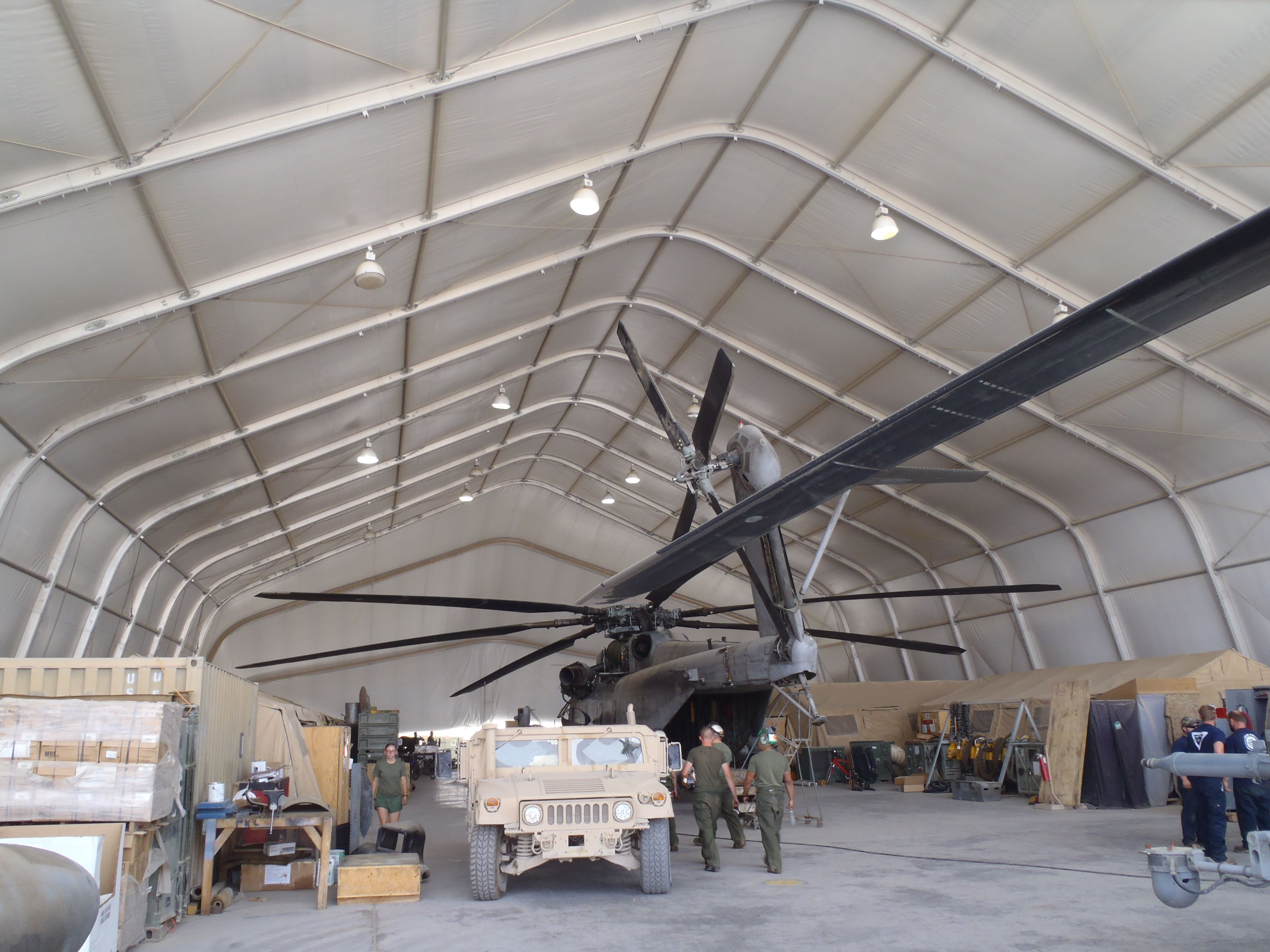 Large Area Maintenance Shelters : Large area maintenance shelters lams big enough for a