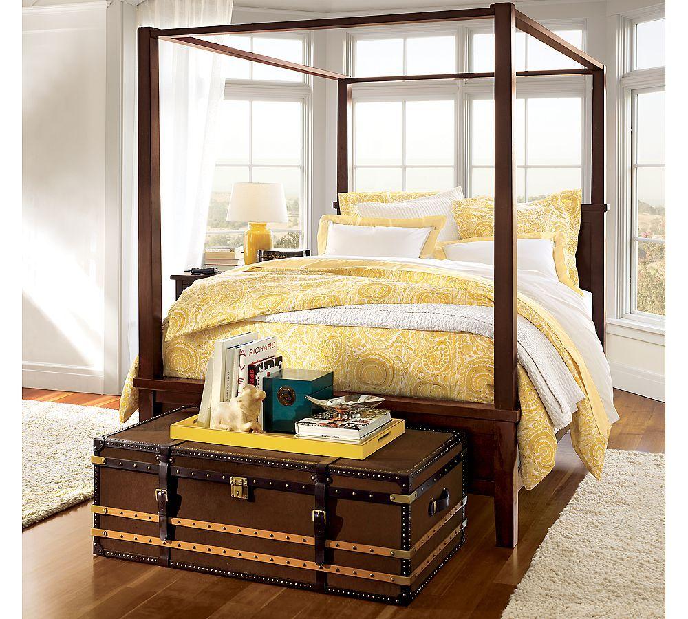yellow bedding Interior Design Farmhouse canopy beds
