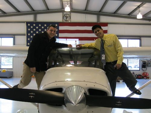 Bradley Bowermasterearned his Recreational pilot certificate on December 19, 2012. To obtain his Recreational certificate,Bradleypassed an oral and a flight exam with an FAA designated flight examiner.Bradleyis enrolled in the Aviation Technology: Professional Pilot Program at the University of Cincinnati. The laboratory portion of the Professional Pilot Program is taught bySporty's Academyat theClermont County Airport.  Bradleyis pictured with his instructor, Saul Meza.