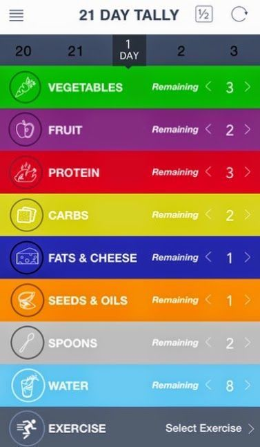 Keep things simple with the 21 Day Fix Tally app to track