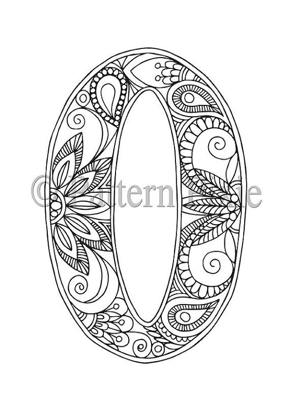 Adult Colouring Page Alphabet Letter O Coloring Pages