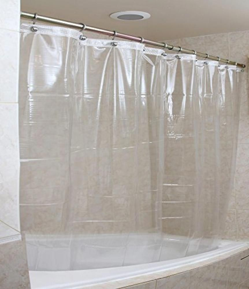 Shower Curtain 72x72 Inches Heavy Duty Liner Waterproof Clear Bathroom Accessory Epica Showeraccessories With Images Cool Shower Curtains Plastic Shower Curtain Curtains