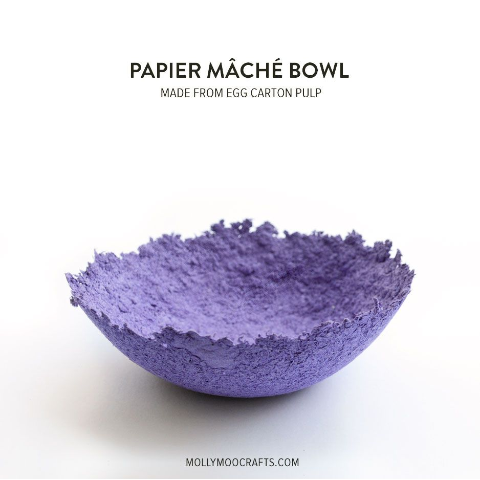 Papier mache bowls make from egg carton pulp egg for How to make paper egg trays