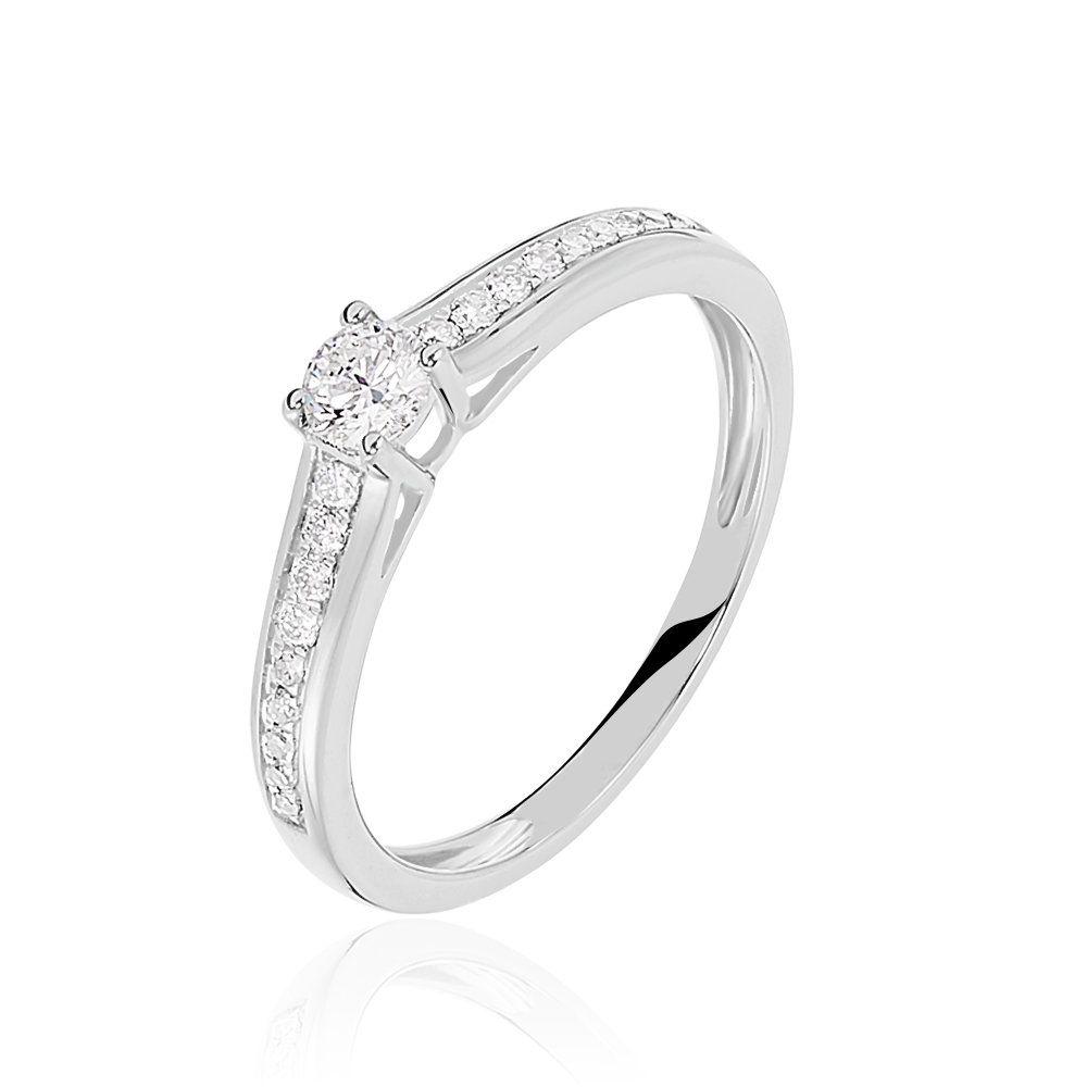 histoire d'or bague diamant or blanc