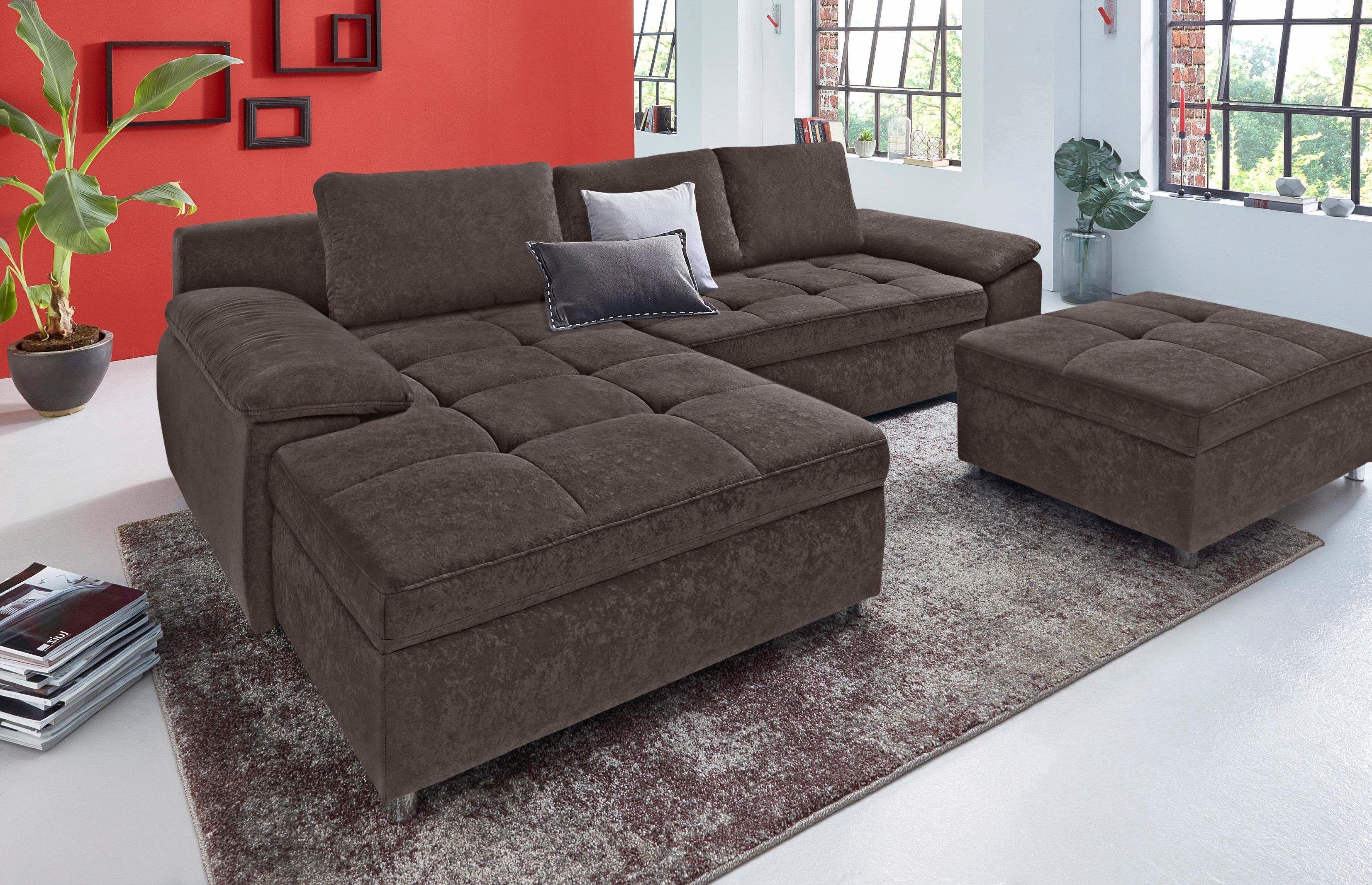 Liebenswert Sofa Mit Schlaffunktion Und Bettkasten Das Beste Von Sit&more Sitzecke Braun, Recamiere Links/ Rechts Montierbar,