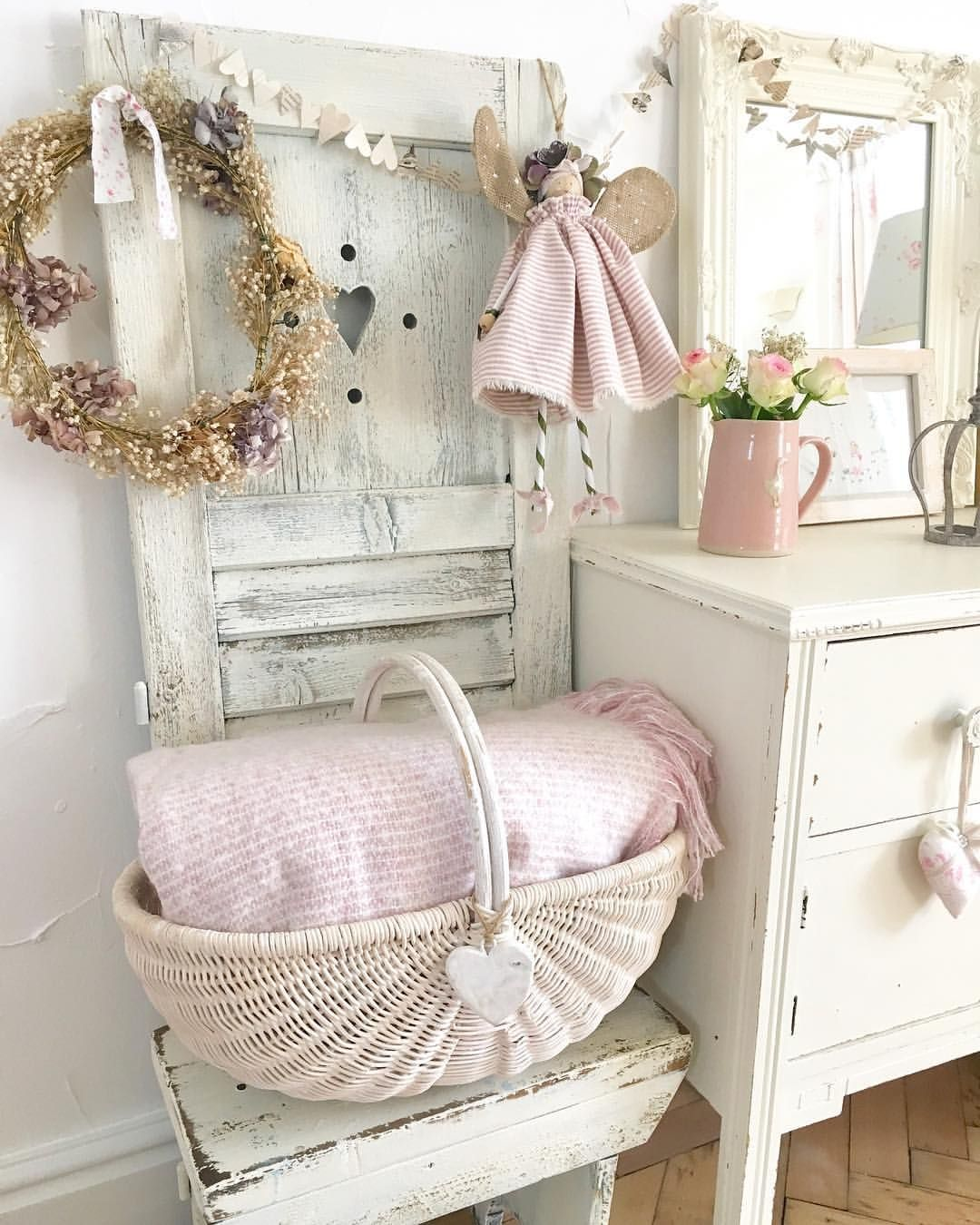 """Photo of Hugs & Hearts Interiors on Instagram: """"Morning … wishing you all a lovely weekend 💕blush pink blankets now in stock www.hugsandheart.co.uk #cottage #countryhome #frenchshutters…"""""""