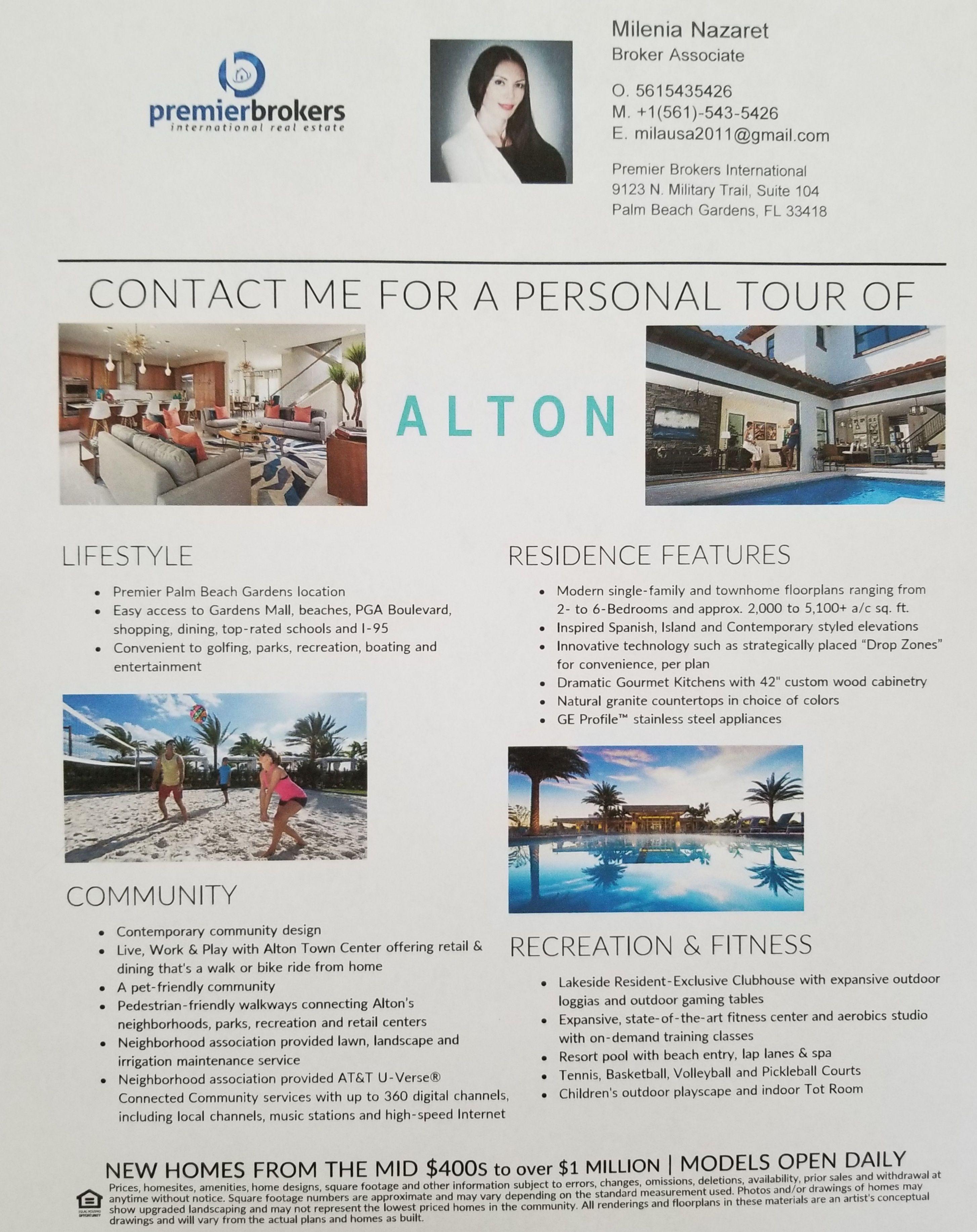 Alton Tour With Milenia Nazaret Palm Beach Gardens Alton New Community
