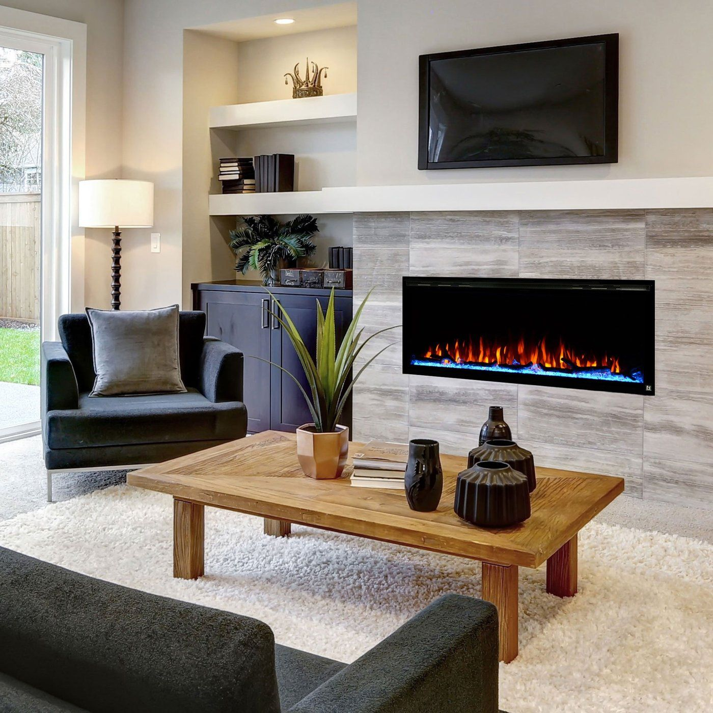 Sideline Elite 50 Recessed Electric Fireplace Touchstone Home