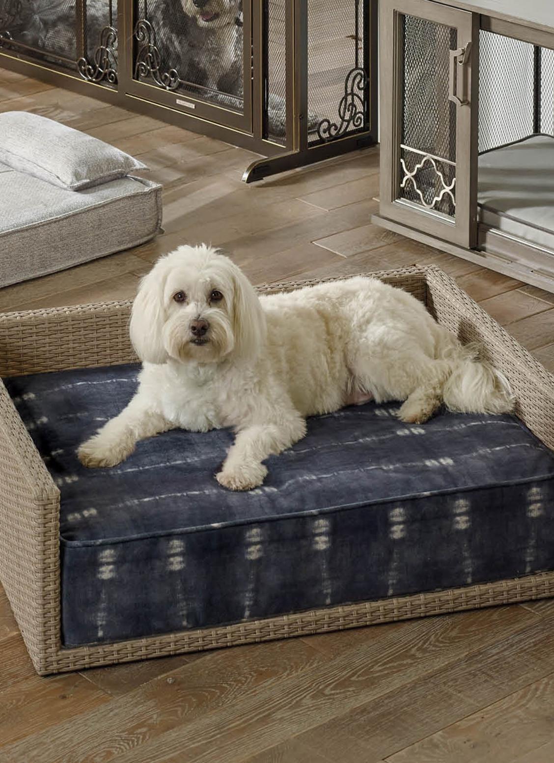 Bahari Pet Bed Pet bed, Resin wicker, Washable cover