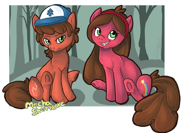 Omg AWWWWW THEY ARE ABSOLUTELY ADORABLEEEEEEE!!!!!!! AHHHHHH TOOO CUTE! #mlp #gravityfalls #mlpdipper #mlpmabel #ponified #cute #adorable
