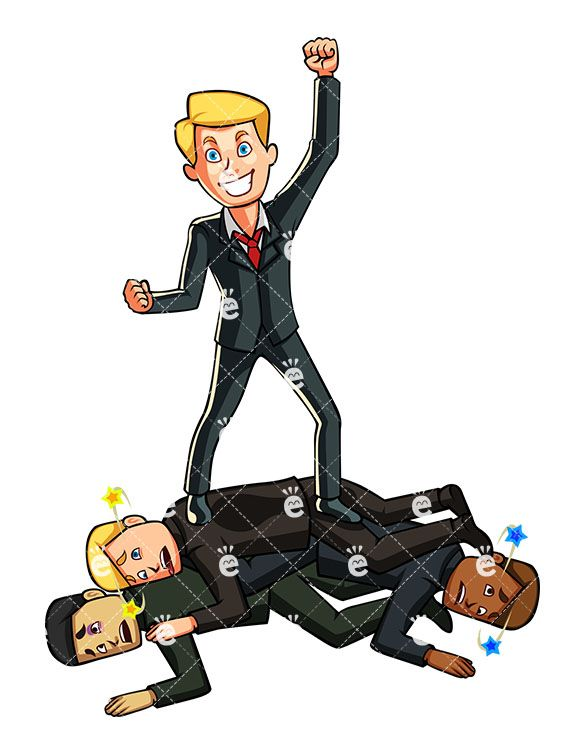Businessman Defeating Competition Cartoon Vector Clipart Friendlystock In 2020 Business Man Cartoons Vector Cartoon