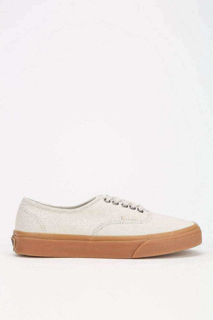 7b3d23fe90343c Vans Authentic Gum Sole Womens Lowtop Sneaker in White (IVORY ...
