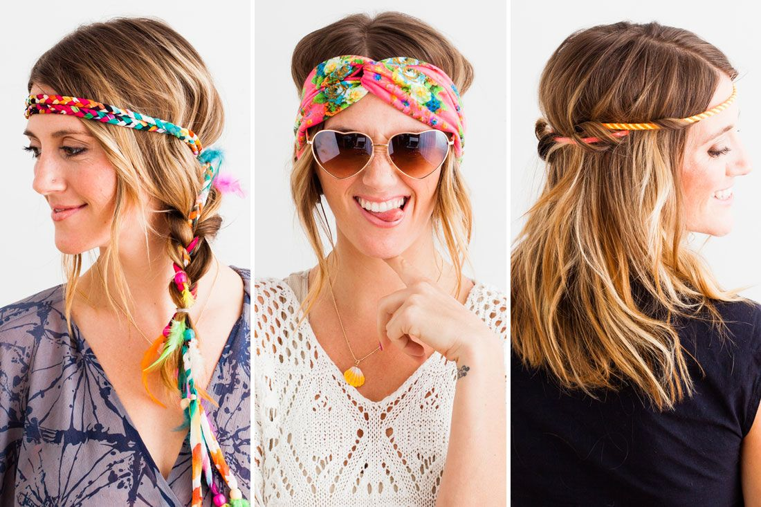 dyi headbands tutorials hippie hairstyles tumblr | hippies