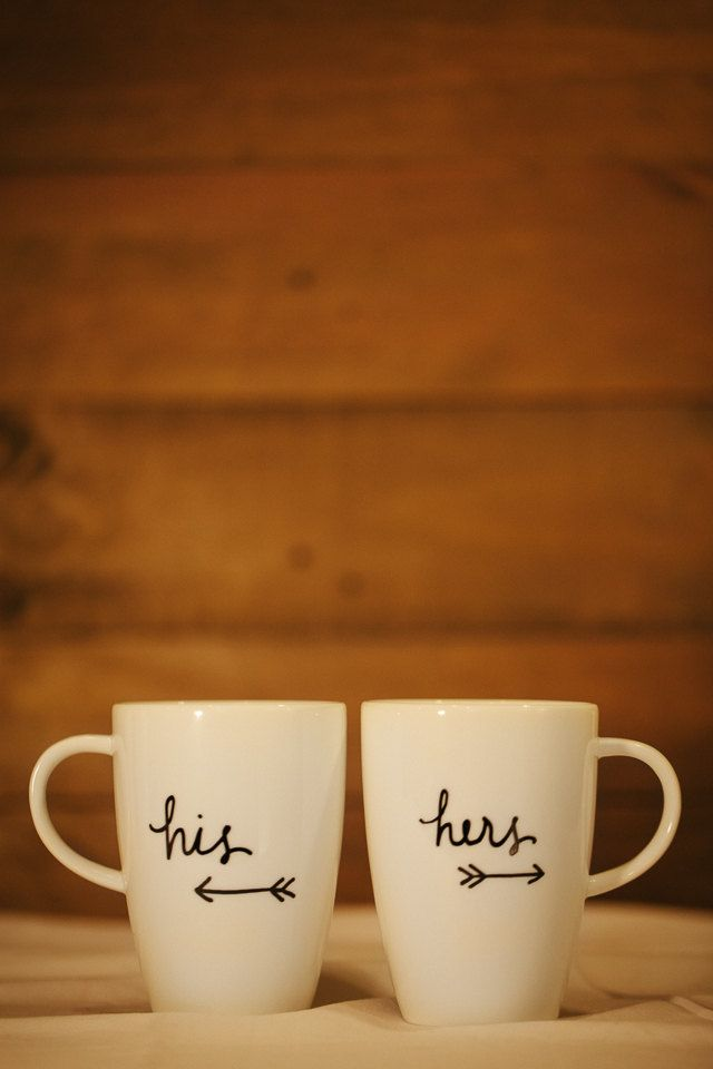 his and hers coffee mugs. wedding gift. wedding by AvenueBlue, $22.00