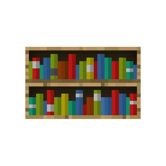Minecraft Bookshelf Vinyl Wall Decal By Wilsongraphics On Etsy 2 25