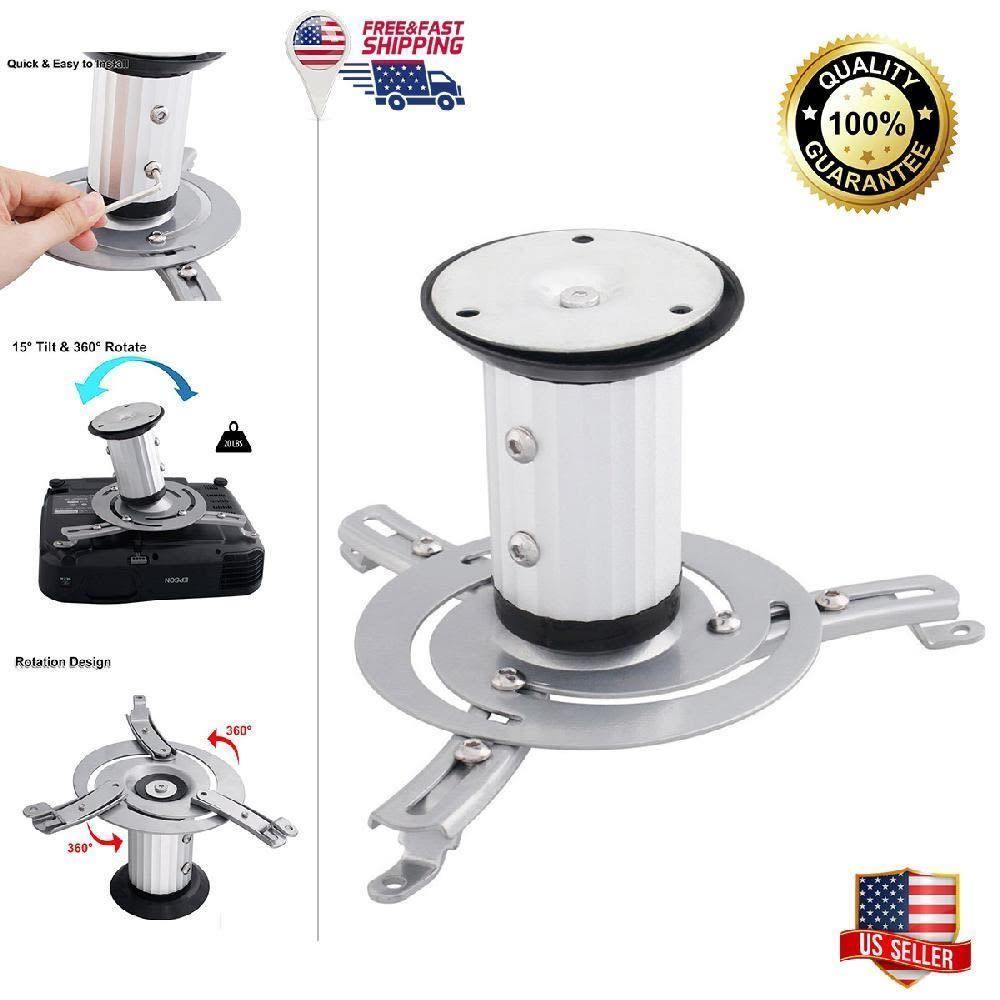 Projector Ceiling Mount Universal Stand Epson Optoma Benq