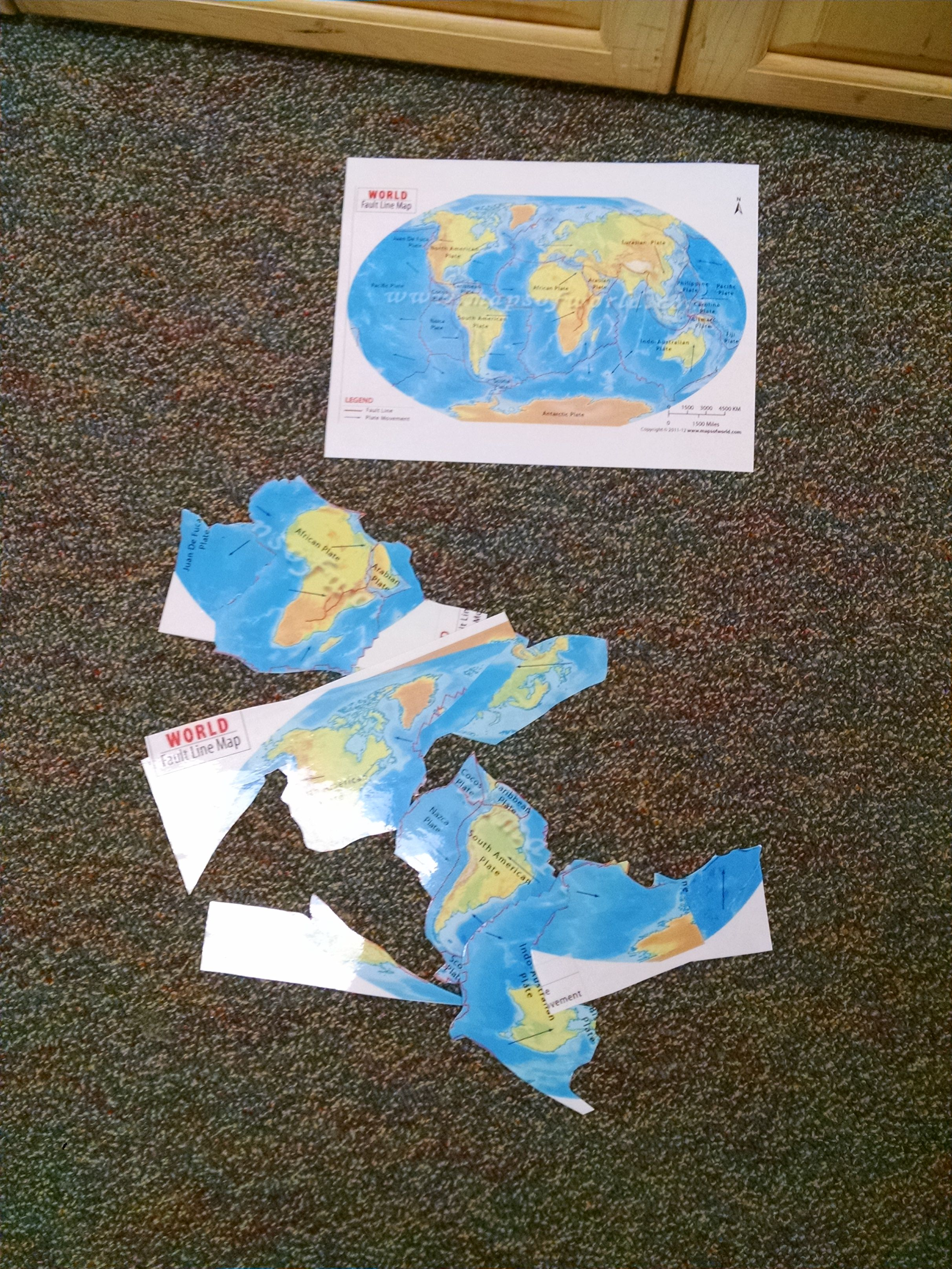 Make A Jigsaw Puzzle To Illustrate The Earth S Tectonic