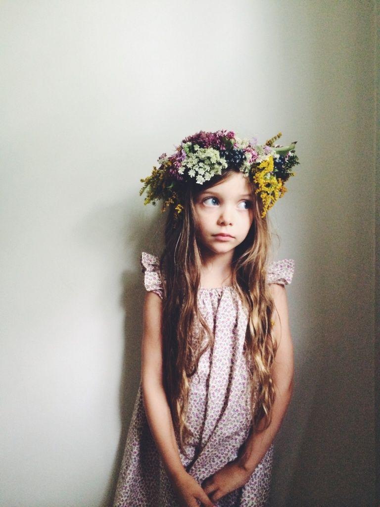 Little Girl Flower Crown Sweet Child Pinterest Enfant